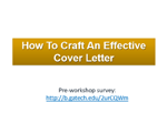 How To Craft An Effective Cover Letter  Writing An Effective Cover Letter