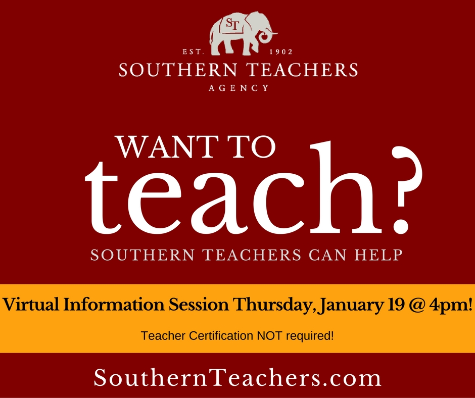 Southern Teachers Agency Virtual Information Session C2d2