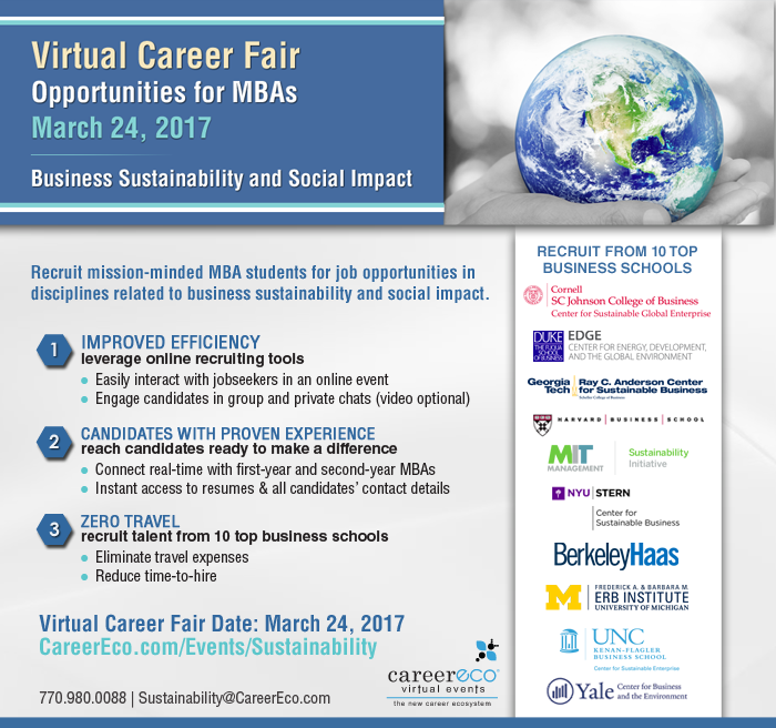 Business Sustainability and Social Impact MBA Virtual Career